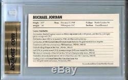 BGS 9.5 GEM MINT 1985 NIKE PROMO #2 MICHAEL JORDAN Bulls Very Rare Rooke Card RC