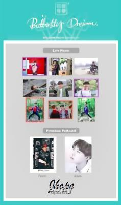 BTS OFFICIAL PHOTOCARD Butterfly Dream EXHIBITION LIMITED VERY RARE J-HOPE LOT 7