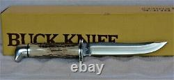 Buck Stag-Handled Pathfinder Hunting Knife, Model 105ST VERY RARE Mint in Box