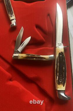 Case xx Complete Red Letter 11 Knife Set 1978 Rare Very Hard To Find Unused Mint