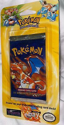 Charizard Shadowless art Pokemon Base Blister Booster pack 1999 Very Rare Mint