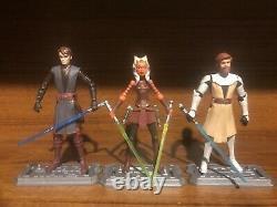Clone wars lot- Anakin, Obi Wan and very rare Ahsoka figure CW44