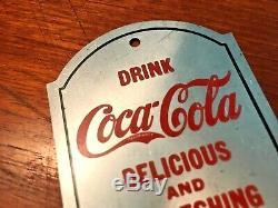 Coca-Cola 1905 Push Pull Door Plates Newark N. J. Aluminum Near Mint Very Rare