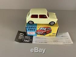 Corgi 225 Austin Seven Very Rare In Primrose Yellow Mint Boxed