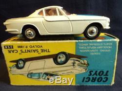 Corgi Toys 1960's Very Rare The Saint Volvo P. 1800 No 258 N/MINT Superb