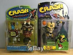 Crash Bandicoot ReSaurus 8 Figure BRAND NEW SEALED LOT! VERY RARE