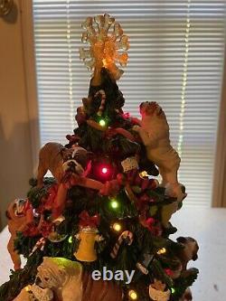 Danbury Mint Bulldog Lighted Christmas Tree Retired VERY RARE HTF