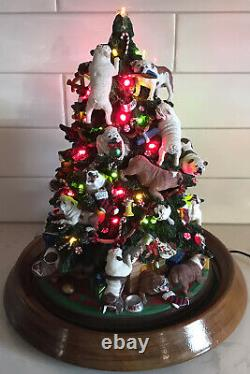 Danbury Mint Bulldog Lighted Christmas Tree Retired Very Rare No Star Read