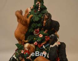 Danbury Mint Cavalier King Charles Spaniel Dog Lighted Christmas Tree VERY RARE