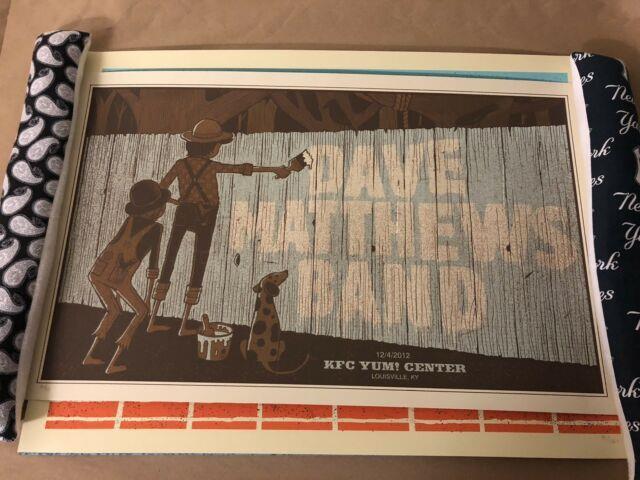 Dave Matthews Band Poster 12/4/12 Louisville, #d/515, Mint, Very Rare
