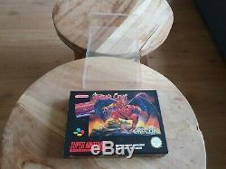 Demons Crest Super Nintendo SNES CIB PAL MINT Very Rare