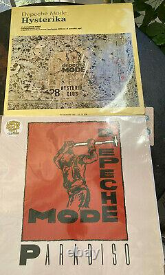Depeche Mode-LOT OF -2 X LPS LIVE TOUR -+ 2 X T SHIRTS +1 TOTE BUG VERY RARE