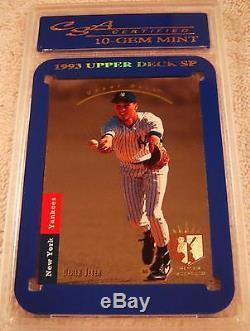 Derek Jeter 1993 Sp Foil Rookie #279 Csa 10 Gem Mint Very Rare New York Yankees