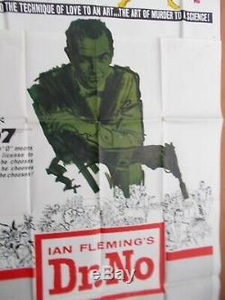 Dr. No Very Rare Orig 1962 Near Mint Three-sheet First James Bond Film