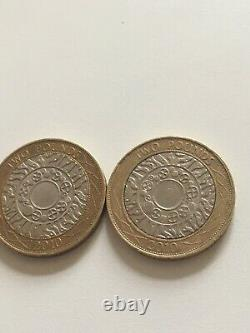 Error £2 Two Pound Coin VERY RARE Double Die 2010 Letters(IRRBB)coin Hunt Mint