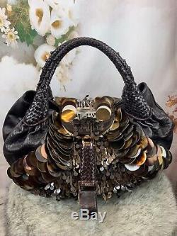 Fendi Embellished Paillette Spy Bag Very Rare Mint Gorgeous Authentic Msrp $5995