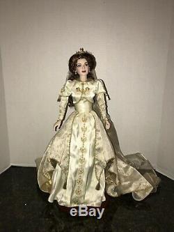 Franklin Mint Faberge Bride Doll Porcelain 18 VERY RARE