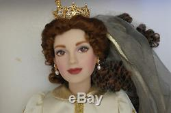 Franklin Mint Faberge Sonja Russian Fall Bride Doll Porcelain 18 VERY RARE