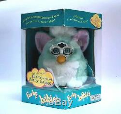 Furby baby MINT GREEN 2000 SERIES 1 blue eyes Tiger Electronics VERY RARE