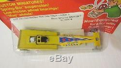 HOTWHEELS 1972 very rare Redline Rear Engine Snake (5856) Yellow Mint