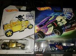 HUGE LOT VERY RARE! Hot wheels bone shaker super treasure hunts Larry's REDLiNE