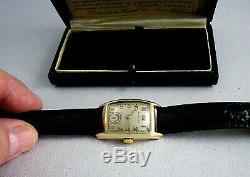 Hamilton Alan Men's Wristwatch 1942 Very Rare 982 Movement Mint Condition