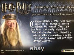 Harry Potter HBP Autograph Card Dumbledore/Michael Gambon Mint Very Rare