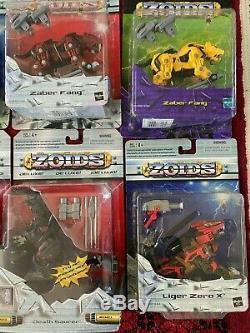 Hasbro Zoids Lot of 28 UNOPENED VERY RARE Vintage Action Figures 2002 Liger Zero