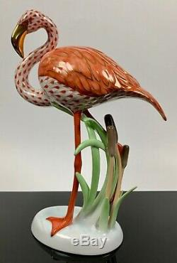 Herend FLAMINGO Kingdom Classic 2005 VERY RARE! RUST Fishnet EXCELLENT MINT