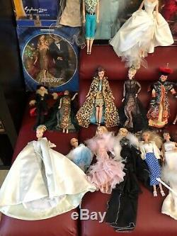 Huge Collectible Barbie Dolls With Accessories Some Very Rare Lot Of 58 Dolls