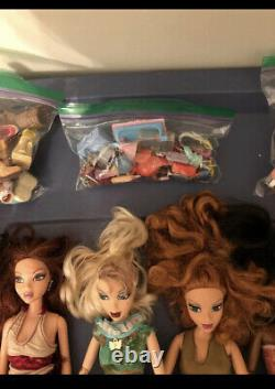 Huge Lot Of 8 My Scene Barbie Dolls With Very Rare AA Jai And Shoe Lot, And More
