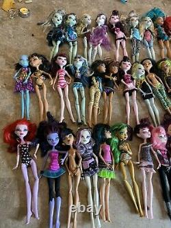 Huge Monster High Doll Lot 45 Some Rare 1st Wave Very Large