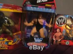 Huge very rare wrestling figure lot wwe wcw ecw everything in near mint conditio