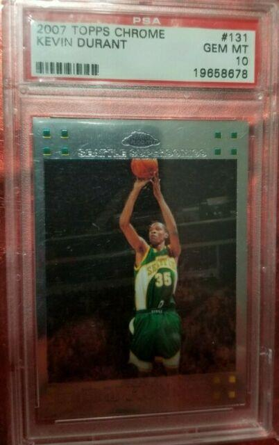 Kevin Durant Topps Chrone Rookie Card Psa 10, Very Rare To Find A Gem Mint 10