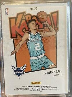 LaMelo Ball Panini Crown Royale KABOOM! #23 GEM Very rare SSP rookie invest RC