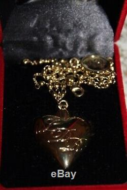 Lana del Rey Heart Pendant necklace. Very rare and Desirable. Mint Withbox