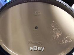 Le Creuset Very Rare Cool Mint 5 Quart Oval Signature Cast Iron Dutch Oven