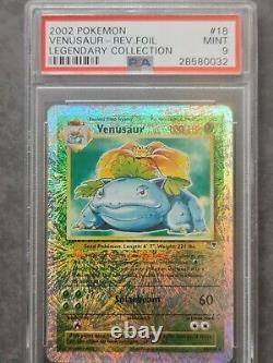 Legendary Collection Venusaur Reverse Holo Psa 9 MINT very rare