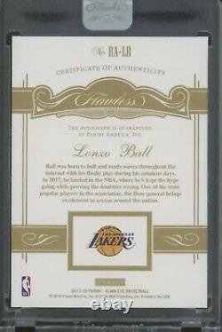 Lonzo Ball 1/1 Rookie Autograph 2017 Panini Flawless Rc One Of One Very Rare