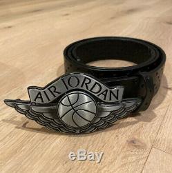 Lot Of 2 Nike Air Jordan Belts Elephant 3 CEMENT Wings Both size L VERY RARE