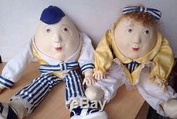 Louis Nicole MR & MRS HUMPTY DUMPTY Doll Lot Very Rare
