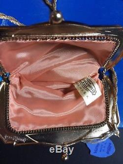 MINT Very Rare WHITING & DAVIS Clark Gable Enameled Mesh Purse / Evening Bag
