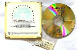 Madonna Don't Tell Me. Very Rare UK WITHDRAWN PROMO ACETATE CDR Mint. 1 Track