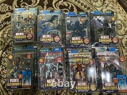 Marvel Legends Lot- With Very Rare Poster Back Colossus/Silver Surfer