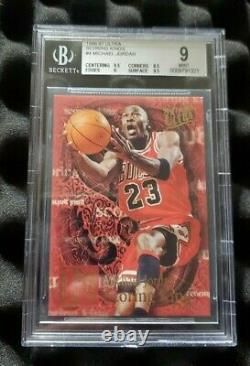 Michael Jordan 1996-97 Fleer Ultra Scoring King BGS 9 Mint non auto Very Rare
