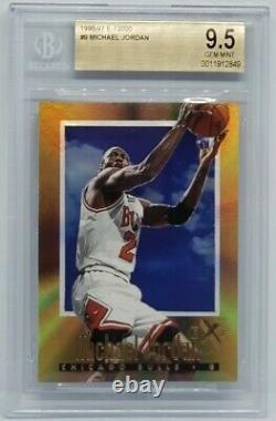 Michael Jordan 1996-97 Skybox E-X2000 # 9 BGS 9.5 Gem Mint POP 31 Very Rare