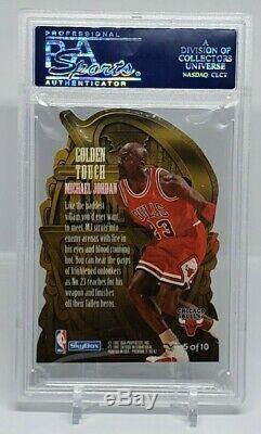 Michael Jordan 1996 Skybox Premium Golden Touch Insert Psa 9 Mint Very Rare