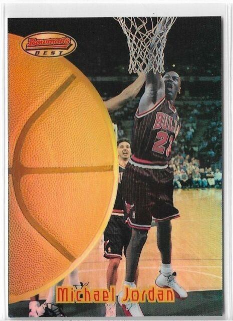 Michael Jordan 1997 98 Bowmans Best #60 Chicago Bulls Refractor Very Rare Mint