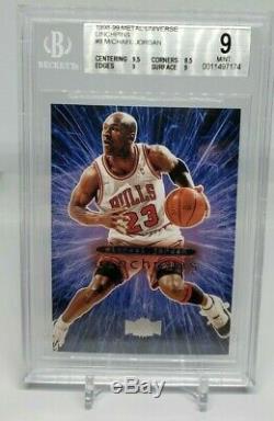 Michael Jordan 1998-99 Metal Universe Linchpins Bgs 9 Mint Very Rare Insert
