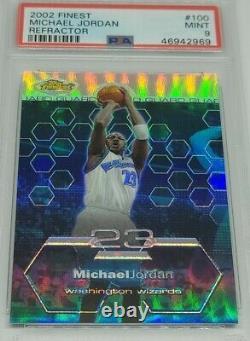 Michael Jordan 2002-03 Topps Finest Refractor #100 PSA 9 Mint 241/250 Very Rare